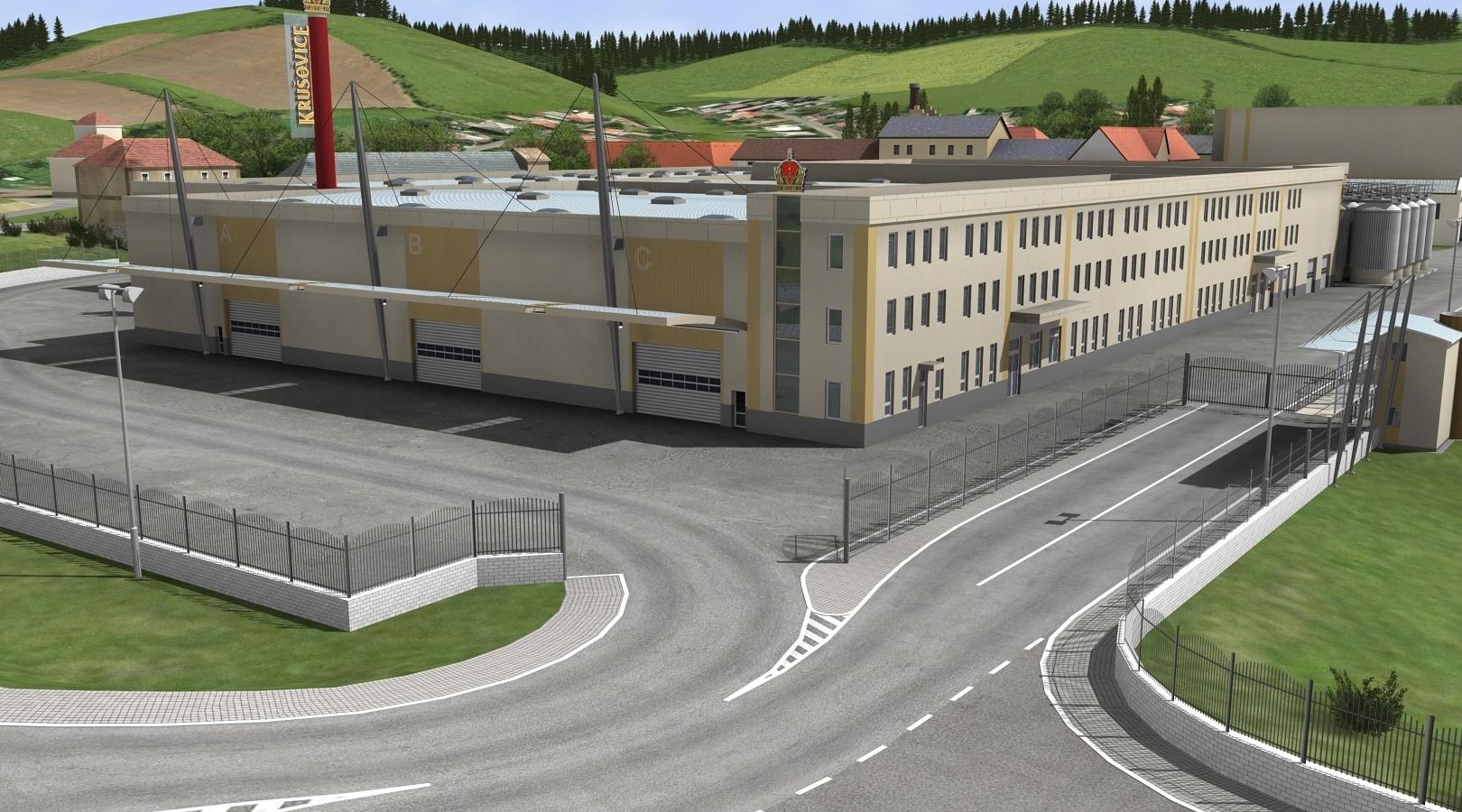 Královský pivovar Krušovice: dostavba areálu