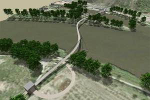 SATRA - Cyklistická stezka s přemostěním kanálu a Vltavy