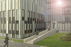 Dostavba Archivu hl. m. Prahy (vizualizace A32 spol. s r.o. - architektonický ateliér)