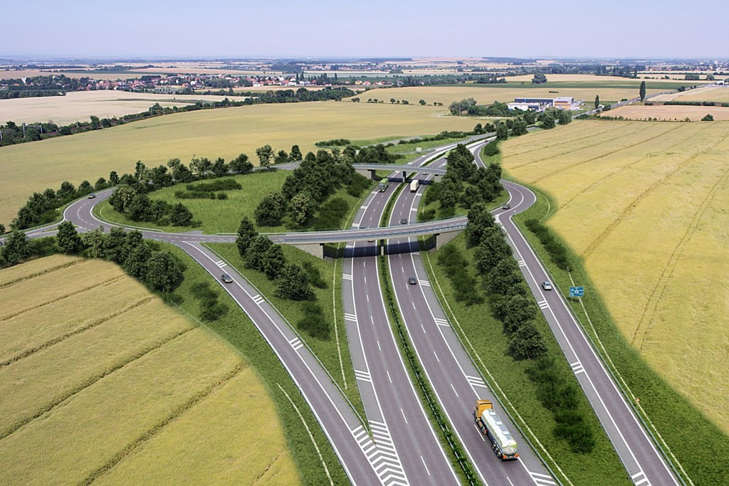 Přeložka silnice I/12 (vizualizace ŘSD ČR)