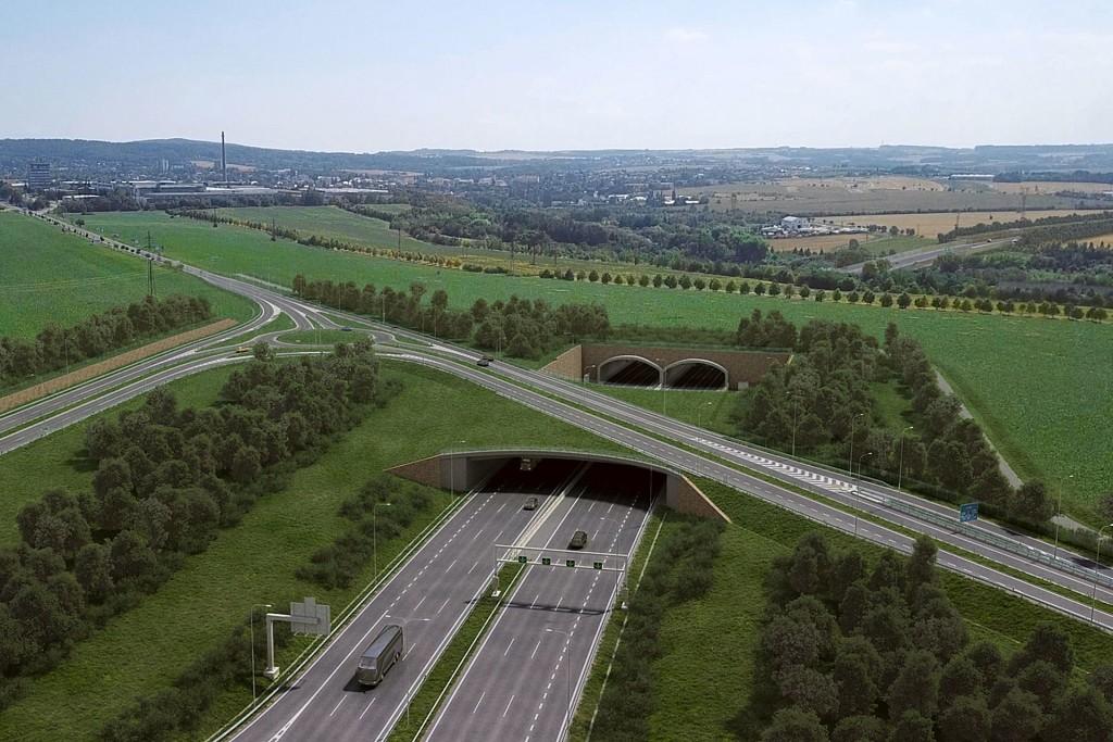 Stavba SOKP 511 (vizualizace ŘSD ČR)